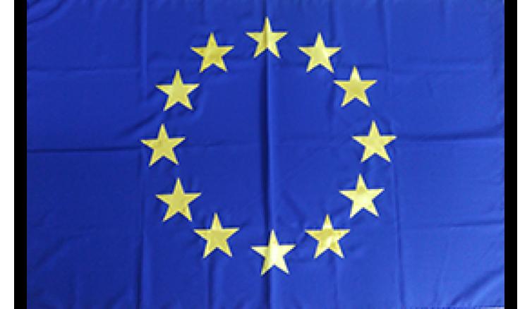 Прапор Євросоюзу з габардину - 90*135 см