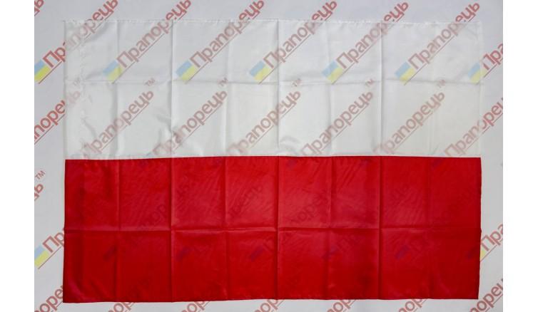 Прапор Польщі з нейлону 90см * 135см