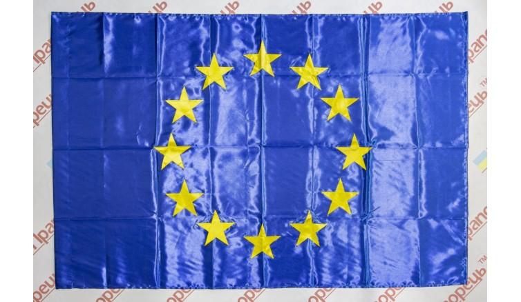 Прапор Євросоюзу з атласу - 90*135 см
