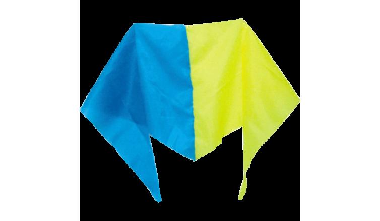 Косинка синьо-жовта з нейлона