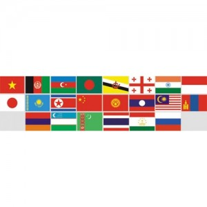 Прапори країн Азії